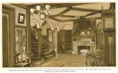 "A Beautiful Reception Hall from ""The Home Beautiful"" 1915."