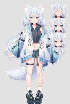 Fantasy Character Design, Character Design Inspiration, Manga Anime, Anime Art, Kawaii Anime Girl, Anime Girls, Character Modeling, Character Design References, Fantasy Characters