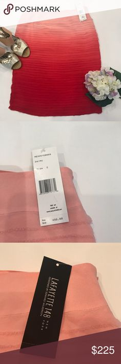 NWT Lafayette 148 New York Ombré coral silk skirt Beautiful silk ombré layered skirt in coral to pale pink  - 100% silk - fully lined - hidden side zipper - exclusive designer Edward Wilkerson  - layered fabric Lafayette 148 New York Skirts