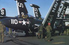 Grumman F9F 1951 VF51 0 Post Mission Service on USS Essex