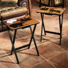 Cabelau0027s: Wilderness TV Trays   Set Of 4