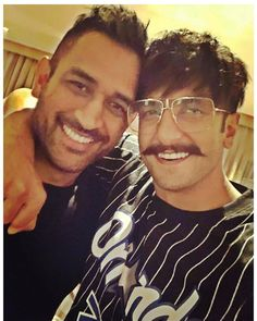 "d7968ebe560  tellybeats on Instagram  ""Two most loved men from the two most popular  industries of the nation 😍😍 . .  mahi7781  ranveersingh ."