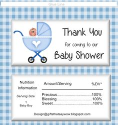 GIFTS THAT SAY WOW - Free Hershey  candy wrapper for baby boys.  Makes a cute favor for baby shower guests.