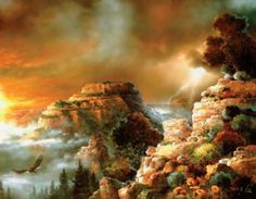 Storm Flight Canyonscape SunsOut 1000+ Larger Piece Jigsaw Puzzle by Artist James Lee, $16.50