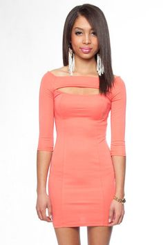 Shoulders to Cry On Dress in Coral $30 at www.tobi.com