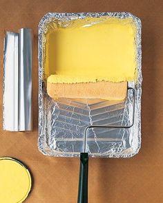 Praxis DIY | Geen zin om altijd maar dat bakje schoon te maken na het verven? Aluminiumfolie blijkt het simpele antwoord!
