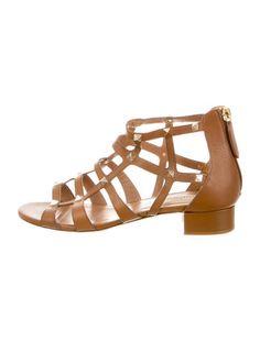 Valentino Leather Rockstud Gladiator Sandals #GetObsessed