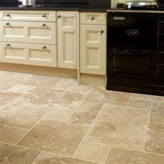 Prestige Premium Quality Travertine Opus Straight Edge Modular We do recommend sealing these tiles using LTP Mattstone Im Dark Tile Floors, Travertine Floors, Stone Flooring, Kitchen Flooring, Kitchen Tile, Kitchen Vinyl, Flooring Ideas, Kitchen Redo, Kitchen Design