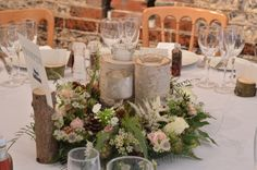 Woodland inspired wedding at Upwaltham Barns by Spriggs Florist.  Call 01798 344133 to discuss your wedding.