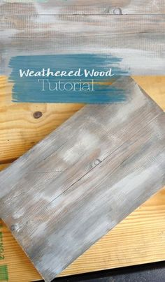 Loveleigh presents a quick weathered wood tutorial using Country Chic Paint prod… - Regal Selber Bauen Easy Woodworking Ideas, Woodworking Projects, Popular Woodworking, Woodworking Furniture, Paint Furniture, Rustic Furniture, Furniture Plans, Furniture Nyc, Bois Diy