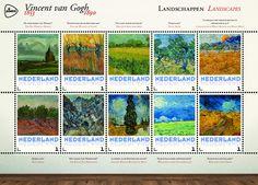 Schilderijen Vincent van Gogh - Landschappen    http://collectclub.postnl.nl/speciale-map-van-gogh-nederland.html