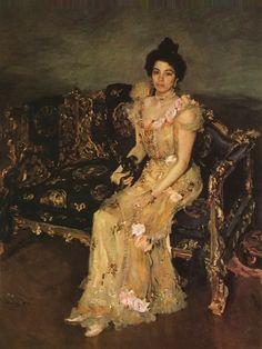 Portrait of S.M. Botkina By Valentin Alexandrovich Serov, 1899