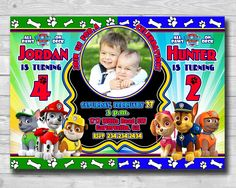 Excited to share the latest addition to my #etsy shop: Sibling Invitation-Double Invitation-Twins Invitation-Paw Patrol Invitation-Paw Patrol Double Invitation-Paw Patrol Boys Invitation-Digital #pawpatrolbirthday #pawpatrolinvite #pawpatrolsibling #siblinginvitation #boyspawpatrol #pawpatroltheme #pawpatrolcards #marshallinvitation http://etsy.me/2jxSQXH