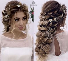 Wedding hairstyles for long hair. #wedding #weddinghairstyle