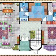 تصاميم منازل جزائرية بالصور House Floor Design, Iron Gate Design, Architectural House Plans, Model House Plan, House Map, Family House Plans, Free Pdf Books, Villas, Architecture Design