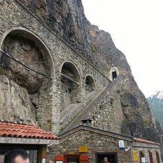 Photo taken at Sümela Manastırı by Mehmet K. on 10/13/2012