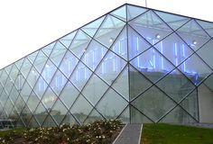 Médiathèque / Mont de Marsan - ateliers59 Wayfinding Signage, Graphic, Louvre, Building, Image, Patterns, Design, Elegant, Temple