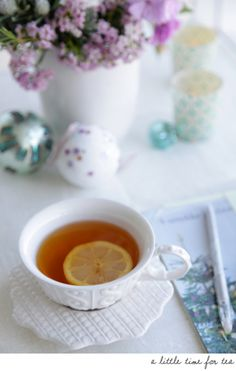 Cup of tea...I love a good cup of tea with lemon and sugar or honey ^_^