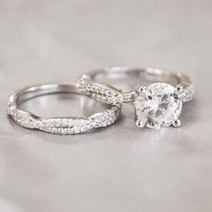 The perfect match: diamond stacking rings