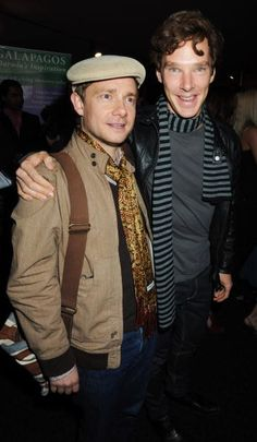 Benedict and Martin  (Photo by Dave M. Benett/Getty Images)