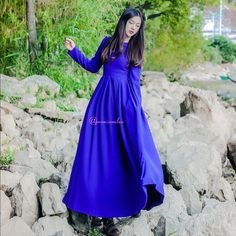 Elegant Fall Doll Style Maxi Dress A fabulous long sleeve doll designed maxi dress that is with Cotten blend and a custom cut for and remarkable fit..absolutely stunning for many occasions CustomDesign Dresses Maxi