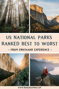 US National Parks Ranked Best To Worst - First-Hand Experience! Find out the best to worst ranked US National Parks by someone who has been to every single one of them! By Renee Roaming, who took an epic 7 month national parks road trip in Will it be Road Trip Usa, West Coast Road Trip, Solo Travel, Travel Usa, Alaska Travel, Alaska Cruise, Travel Europe, Dream Vacations, Vacation Spots