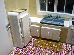 kitchen with focus on refrigerator/freezer