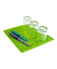 Take a look at this Green Maze Drying Mat by Art & Cook on #zulily today!