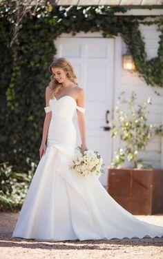 624900075 1041 Silk Wedding Dress with Ruching by Martina Liana Wedding Dresses,  Fashion, Bride Dresses