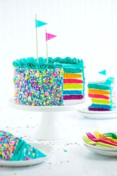 Rainbows & Sprinkles Cake from The Sweetapolita Bakebook
