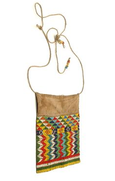 Africa | Cache-sexe/lioncloth ~ 'obano' ~ from the Shilluk people of the Malakal region of Sudan | Cotton and glass beads | 20th century