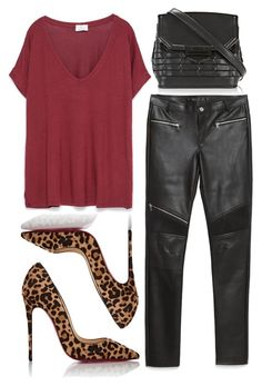 """""""Back to Basics"""" by cherieaustin ❤ liked on Polyvore featuring Alexander Wang, Zara and Christian Louboutin"""