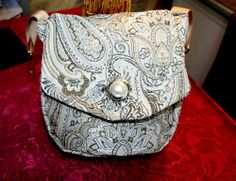 Silver Paisley Belt Bag