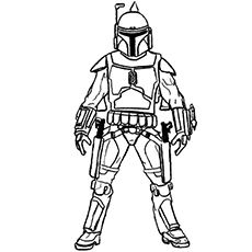 Boba Fett (1) | (ABC) Coloring Pages | Pinterest | Boba fett and Craft