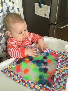 6 month old -Squishy Sensory Bags - Life As Mama Bear