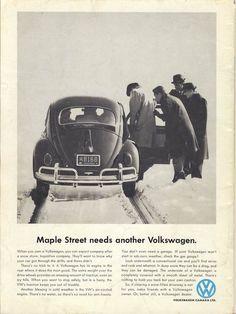 1960's Volkswagon Advertisement Pinned by Ricky Richards www.rickyrichards.com