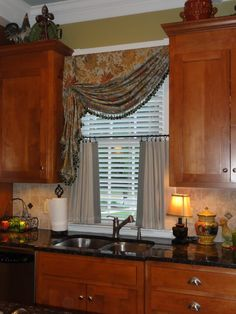 cafe curtains style window treatments | Simply by Sabrina: Kitchen Window Treatment Add-on!
