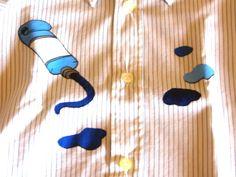 Tubetto e colori - pittura su stoffa (su una camicia per bambino)