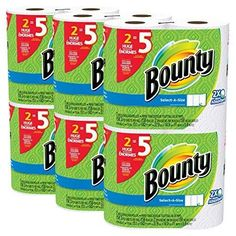 Bounty Select-a-Size Paper Towels White Huge Roll 12 Count