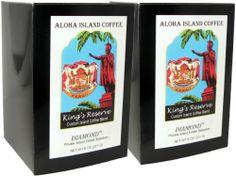 Aloha Island, Kona Smooth Diamond Kings Reserve Hawaiian Blend Coffee Pods, 2 Boxes of 18 Pods Each - http://thecoffeepod.biz/aloha-island-kona-smooth-diamond-kings-reserve-hawaiian-blend-coffee-pods-2-boxes-of-18-pods-each/