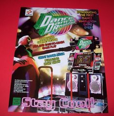 Arcade Gaming Arcade, Jukeboxes & Pinball 1999 Konami Dancing Stage Video Flyer Mint Attractive Appearance