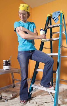 Prepaint Yourself with Lotion | coat your face and arms with lotion before a painting project and the spatter will wash off your skin easily | /www.familyhandyman.com