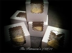 Cupcake Favors - The Petracca Wedding 7/28/12 : 180 Blueberry Filled Vanilla Cupcakes w/ Cream Cheese Frosting