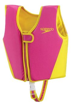 Speedo Kids' UPF 50+ Begin to Swim Classic Swim Vest, Pink, Medium