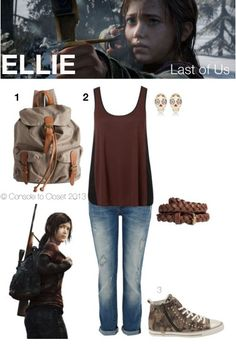 Inspired by Ellie from The Last of Us Clothing inspired by video game characters - like DisneyBound but for gamer girls ^_^ -jl-