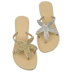 Starfish Beaded Sandals! Love em.  I bought a pair but they are black and silver sparkly starfish.  Love them!