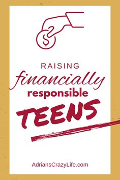 I think every family handles money slightly different with their teens. Raising your kids to be money smart is one of the best gifts you can give them. #adrianscrazylife #responsibleteens #raisingteens #moneysmart Money Saving Meals, Money Savers, Show Me The Money, Save Your Money, How To Become, How To Get, Parenting Hacks, Frugal, Raising