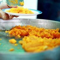Moong Dal Halwa Recipe - Halwa made from moong dal and flavored with cardamom and almonds. Its a perfect winter dessert. Indian Desserts, Indian Sweets, Indian Food Recipes, Ethnic Recipes, East Indian Food, Paleo Baking, Winter Desserts, Desi Food, Gluten Free Treats