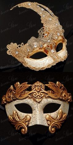 His&her themed masquerade masks