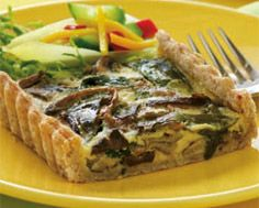 Tart of Wild Leeks and Mushrooms in Garlic Cream